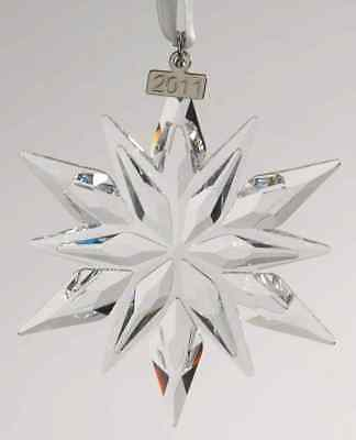 "SWAROVSKI Annual Edition 2011 Large ""STAR"" Snowflake Christmas Crystal Ornament"