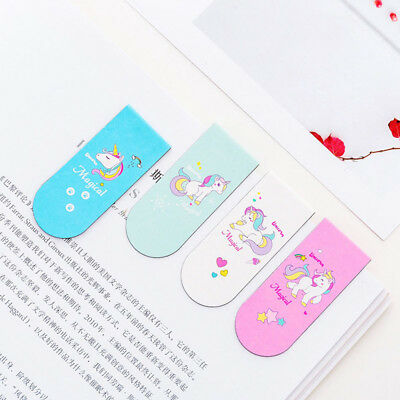 3pcs Unicorn Magnetic Bookmark Marker of Page School Office Student Reading Kids