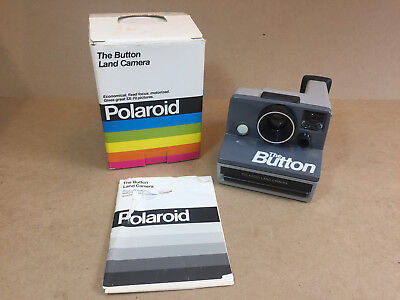 Polaroid The Button Land Camera SX-70 With Original Box & Instructions Untested
