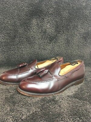 76db1de06a8d5 VINTAGE BROOKS BROTHER Tassel Loafers 1818 Burgundy Apron Toe Men's Size  8.5 706