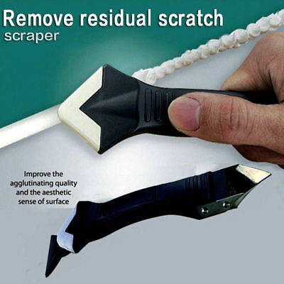 Pro 3In1 Silicone Remover Caulk Finisher Sealant Smooth Scraper Grout Kit Tools