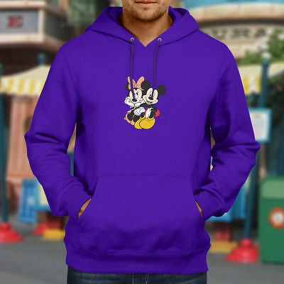 Mickey Minnie Mouse Couple Love Cute Hooded Sweater Pullover Hoodie Mens Unisex