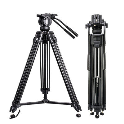 Professional Video Camera Tripod Fluid Head Kit Heavy Duty for DV Camcorder