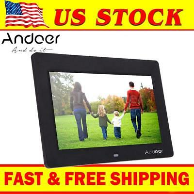 "Andoer 10"" HD LCD Digital Photo Frame Picture Alarm Clock MP4 Movie Player D8J8"