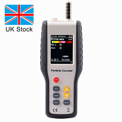 PM2.5 PM10 Detector Air Quality Monitor Particle Counter Gas Analyzer Dust  -UK
