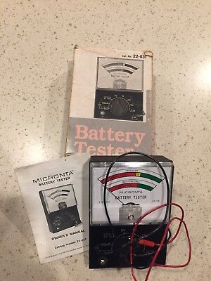 WORKING Vintage Micronta Battery Tester In Original Box