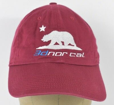 00f2753dbad Red 3d Norcal California Bear Nike Embroidered Baseball Hat Cap Adjustable  Strap