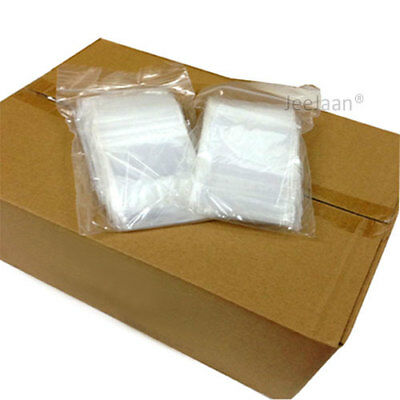 10000 Small Clear 3 x 3.25 Resealable Grip Seal Plastic Polythene Zip Lock Bags