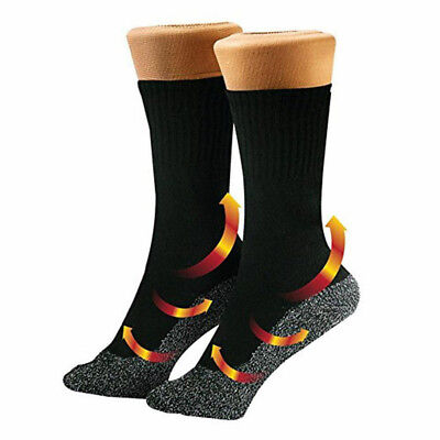 1Pair 35° Below Sock Aluminized Fibers Feet Warm And Dry Heat Insulation Black P