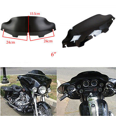 "6 ""Wave Windshield Gloss Black Windscreen Für 1996-2013 Harley FLHT FLHTC FLHX"