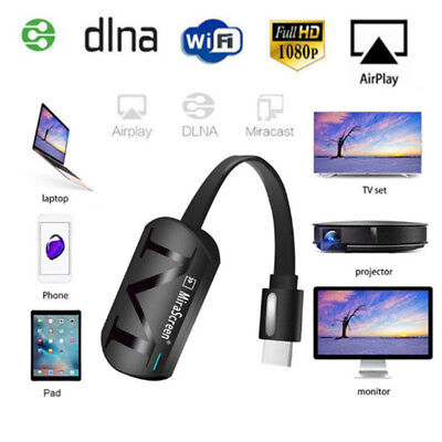 1080P HD MiraScreen WiFi Display Receiver Dongle DLNA Airplay Miracast HDMI TV