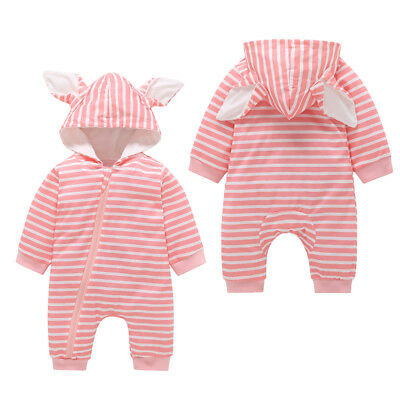 AUSTOCK Infant Baby Boy Girl Warm Romper Jumpsuit Hooded Bodysuit Clothes Outfit