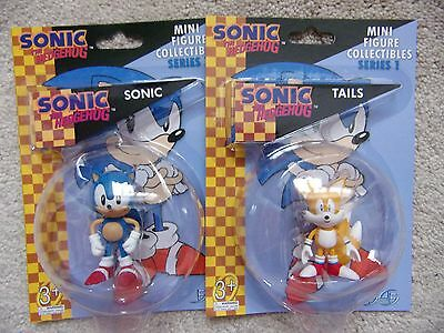 """Sonic the Hedgehog SONIC and AMY ROSE 2 Mini Figure Collectibles F4F 2.5/"""""""