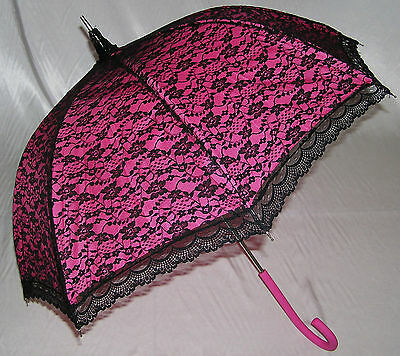 .Modern Victorian Lace Umbrella. Wedding, Races, Prom.