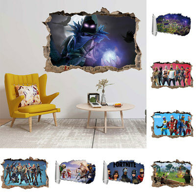 Fortnite Battle Royal Wall Sticker Self-Adhesive 3D Decal Home Decor Newest