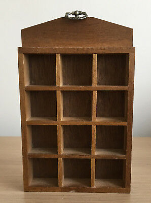 Wooden Thimble Display Rack / Holder Holds 12 Thimbles Wall Mountable
