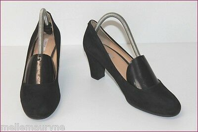 GEOX Breathed Court shoes Black Suede Tips Round T 39 TOP CONDITION