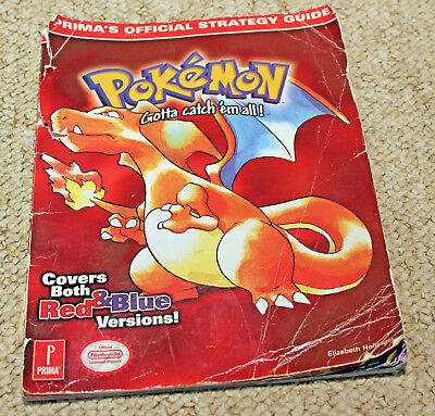 Pokemon Red & Blue Versions Prima Official Strategy Guide Book Game Boy Color