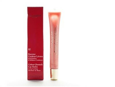 Clarins Colour Quench Lip Balm 02 Peach Nectar 100% genuine 15ml