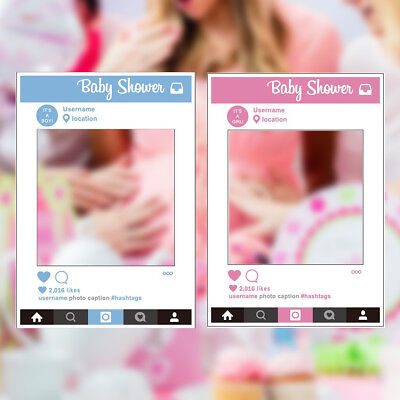 Baby Shower Photo Booth Party Prop Large Size Insta Selfie Frame Photography Fun