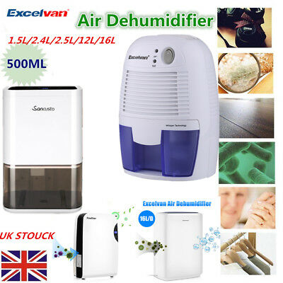 Digital Dehumidifier Air Purify Portable Damp Mould Moisture Dryer Timer Dryer