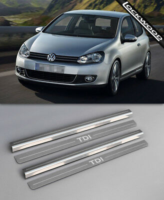 VW Golf Mk6 TDI (2009 - 2012) 2 Door Sill Protectors / Kick plates