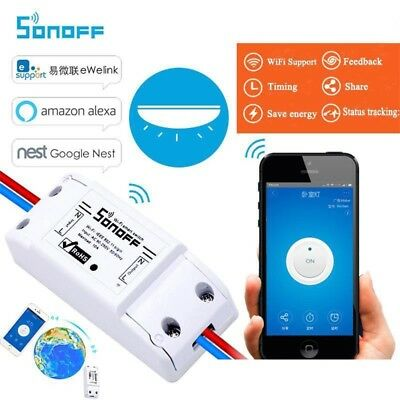 Sonoff Interruttore Domotica Wifi Smart Switch App Smartphone Nest Ios Android