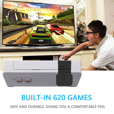 Retro Classic Family AV TV Game Console Built-in 620 Games With 2 Controllers