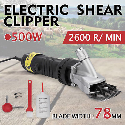 500W Electric Horse Clippers Cattle Trimmer Shearing Clip Hair Grooming 5M Cable