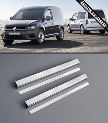 VW Caddy Mk3 (Released 2003) Stainless Sill Protectors / Kick Plates