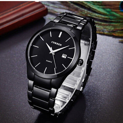 Men Luxury Fashion Military Stainless Steel Analog Date Sport Quartz Wrist Watch