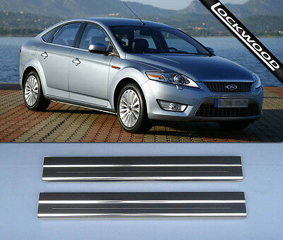 Ford Mondeo MK4 2007 - 2014 Stainless Steel Sill Protectors / Kick Plates