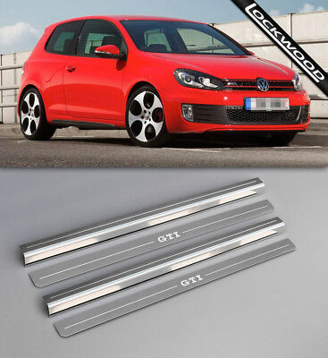 VW Golf Mk6 GTi (09-12) 2 Door Upper & Lower Sill Protectors / Kick Plates