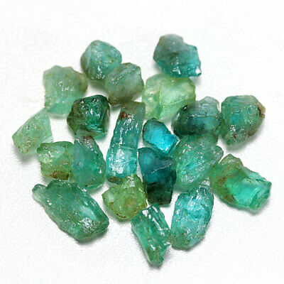42.23 Ct. Neon Blue Green Apatite Rough Natural Gemstone Unheated Free Ship!!