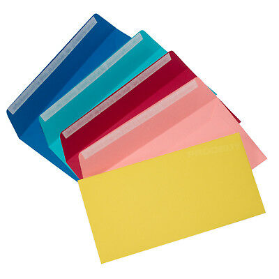 20 x DL Coloured Envelopes 120gsm Quality 220mm x 110mm Plain Wedding Pack Set