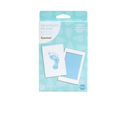 Pearhead Mess-Free and Clean-Touch Ink Pad, Blue-foot/handprints-boys