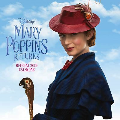 Mary Poppins Returns 2019 Official Calendar Square Gift Present Wall Hanging