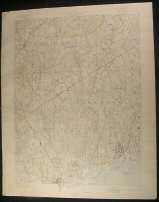 Stamford Connecticut Greenwich Bedford 1890 vintage USGS original Topo chart map