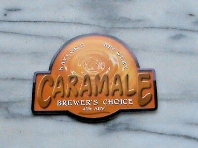 Naylor's Caramale real ale beer pump clip sign