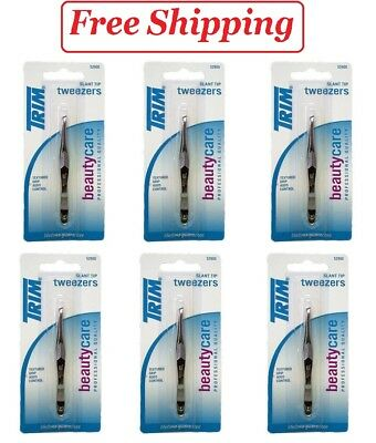 Trim Tweezers With Slant Tip Eye Care Implements Pack of 6