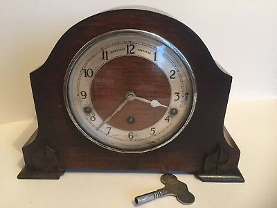 Vintage c1930 Garrard Oak Westminster Chime Mantel Clock James Carr Aberdeen