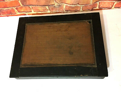 Antique Portable Lap Writing Desk Wood Wooden Old Vintage Travel Document