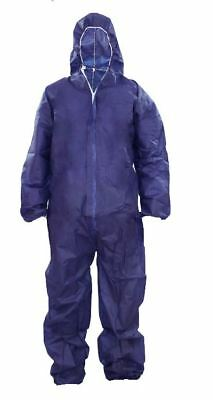 DISPOSABLE OVERALL/COVERALL DIRT PROTECTION WORKSHOP PAINTING SPRAYING[XL,Blue]