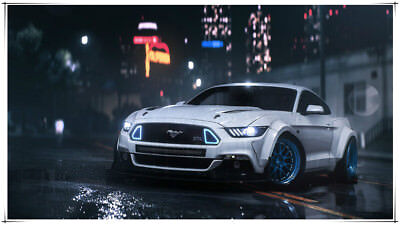 Ford Mustang Muscle Car Need for Speed Payback 24 X 14 inch Silk Poster