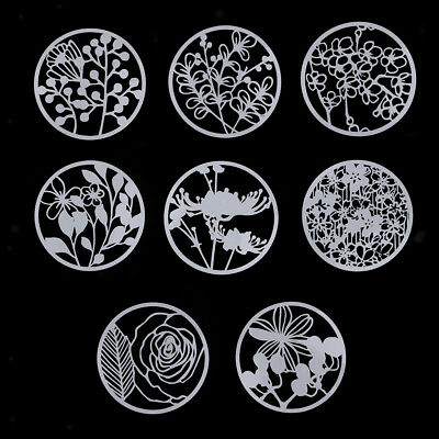 8X Painting Drawing Engraving Molding Flower Shapes Template Mold Stencil