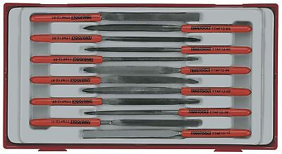 Teng Tools 5 PIECE HAND FILE TOOL SET SQUARE HALF ROUND WITH WALL HANGING RACK