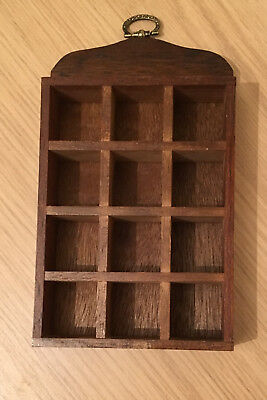 Wooden Thimble Display Rack / Holder Holds 12 Thimbles Wall Mountable Fixing