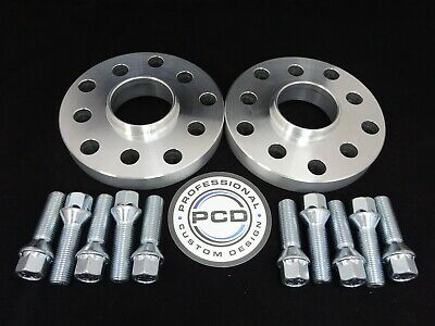 20mm VW AUDI 5x112 OR 5X100 Hubcentric Wheel Spacers, 57.1 bore & 10 TAPER Bolts