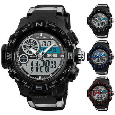 New Army Military Waterproof Sport Men's LED Quartz Analog Digital Wrist Watch