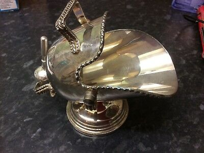 Vintage Silver Plate Salt Or Sugar Scuttle With Scoop.